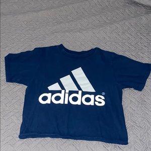 Adidas Dark Blue Crop Top
